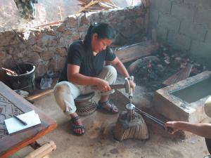 Akha silversmithing