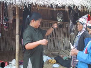 Akha spinning and fiber arts
