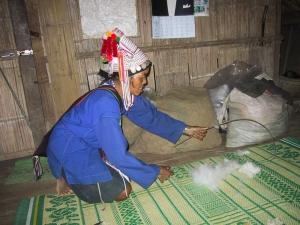 Fluffing the Cotton for Spinning