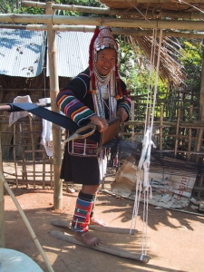 Akha weaving
