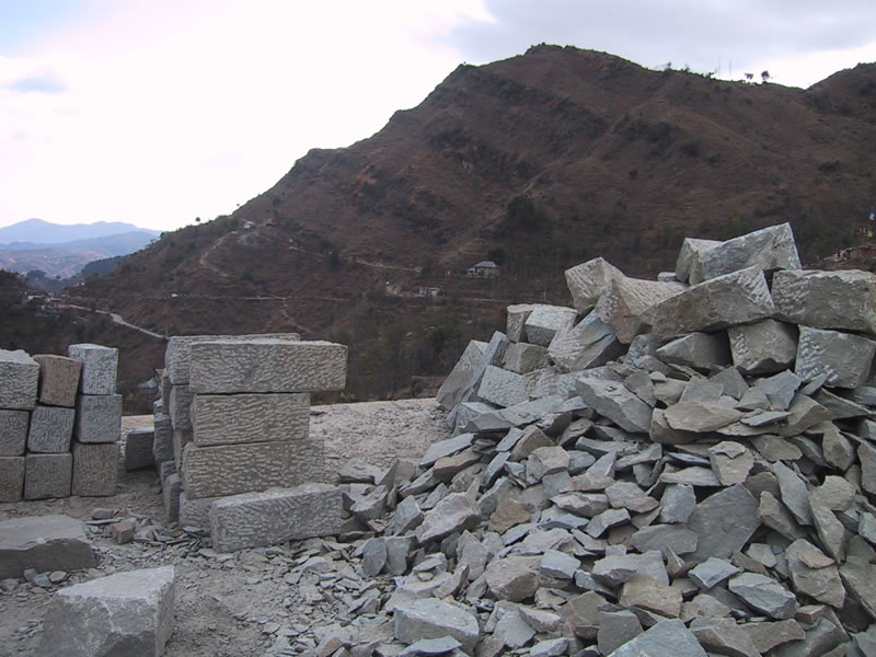 heap of stones at the construction site. Look closely: every stone ...