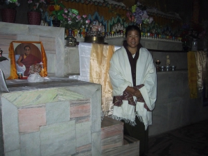 Tien at Shrine to Guru Padmasambhava