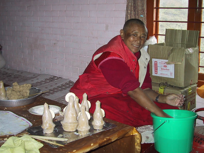 Ani Bumchin, Nun Making Torma for Losar