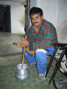 Shopkeeper Churning Curd
