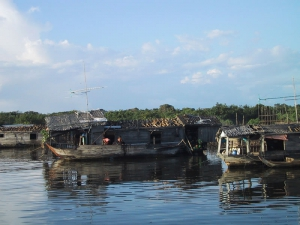 Poor Cambodian Houseboat