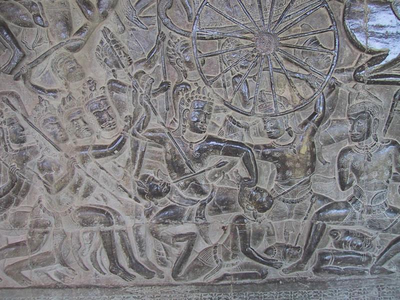 Bas reliefs at angkor wat tien chiu