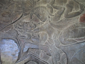 Bas-Relief at Angkor Wat: Battle