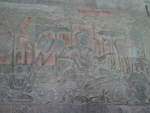 Bas-Relief at Angkor Wat: Commander
