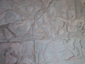 Bas-Relief at Angkor Wat: Boiling Water in Hell