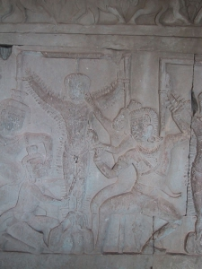 Bas-Relief at Angkor Wat: Sinners Driven Full of Nails