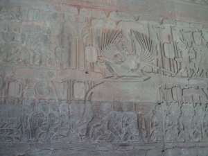 Bas-Relief at Angkor Wat: King of Hell
