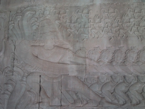 Bas-Relief at Angkor Wat: Milk Giant
