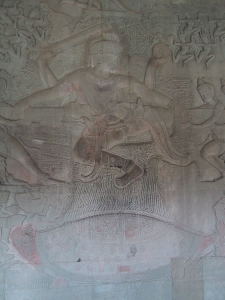 Bas-Relief at Angkor Wat: Vishnu