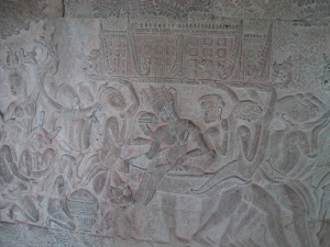 Bas-Relief at Angkor Wat: Queen