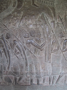 Bas-Relief at Angkor Wat: Thai Mercendary