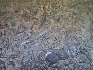 Bas-Relief at Angkor Wat: Charioteer