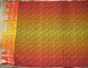 A larger photo of the same shawl.