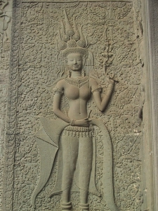 Angkor Wat Apsara (Heavenly Maiden) With Teeth