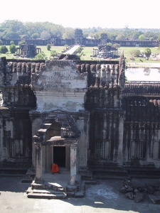 Angkor Wat Tower Monk