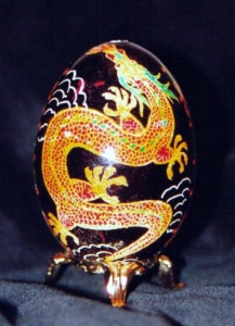 Painted Egg Draft Dragon