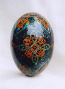 Painted Egg Celtic 1