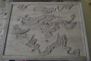 Xi'an Lacquer Phoenix Carving