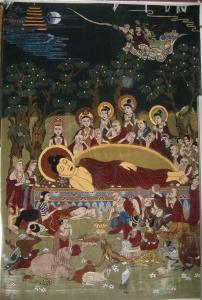 Dunhuang Sleeping Buddha Rug Mogao Caves
