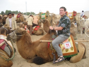 Mike On A Parked Dunhuang Camel
