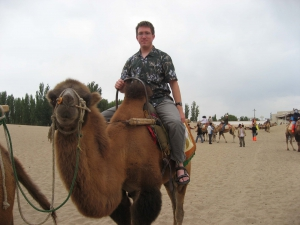 Mike on a Dunhuang Camel