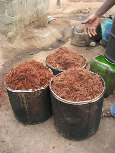 shredded bark for adinkra