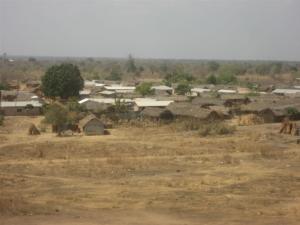 mud huts in Ghana