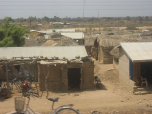 more mud huts in Ghana