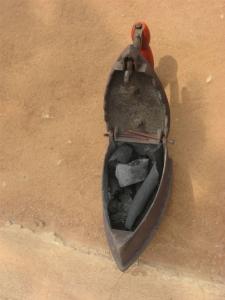 Charcoal-stoked iron