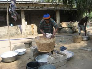 making coconut milk