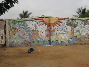 Murals at Aba House, Ghana