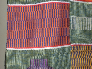 Kente showing bars of color