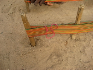 Warp Cross for Kente Weaving