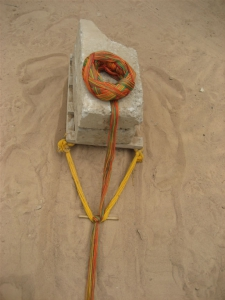 Weight Holding Kente Warp Taut