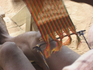 Three-stick Header in Kente Weaving