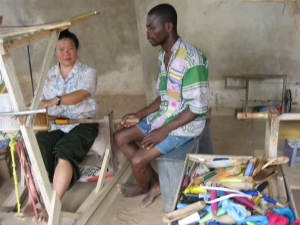 Tien Weaving Kente