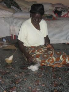 Daboya - spinning and indigo dyeing