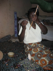 Spinning the cotton in Ghana