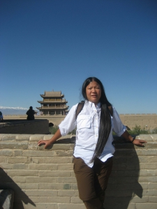 Tien on the Jiayuguan Wall - Great Wall of China