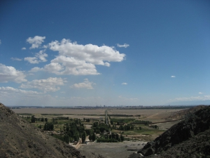 View from the Top of Jiayuguan Wall - Great Wall of China