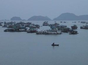 Halong Bay Boatman in Catba Harbor