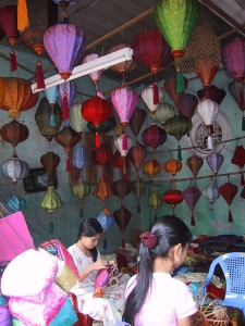 Silk Lanterns in Hoi An Shop