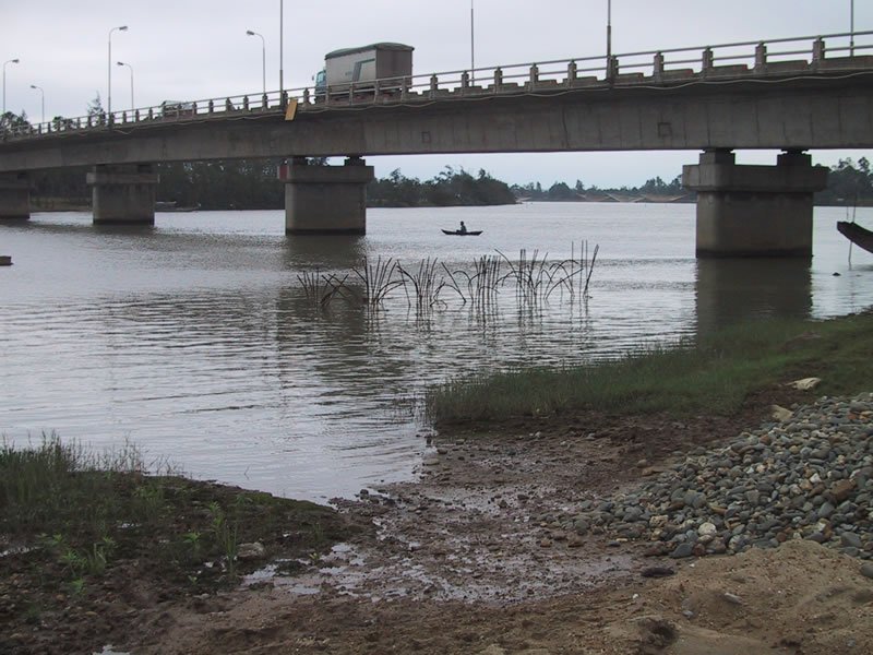 Fisherman Under A Bridge in Hue