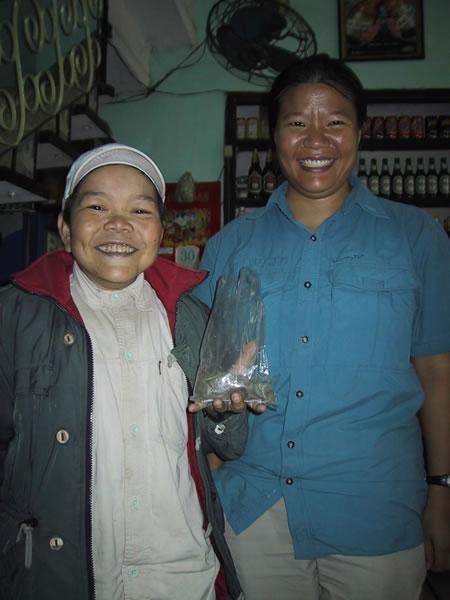 Tien With Mr. Coin in Vietnam