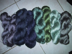 Natural Dye Indigo Skeins