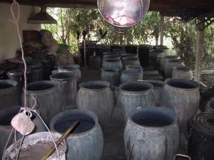 Natural Dye Indigo Vats